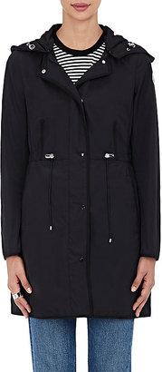 Moncler Women's Grosgrain-Trimmed Hooded Coat $905 thestylecure.com