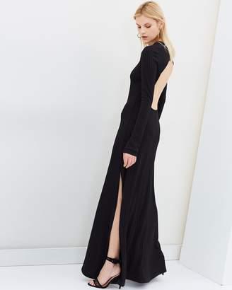 Backless Jersey Maxi Dress