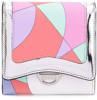 Emilio Pucci colour block snap wallet