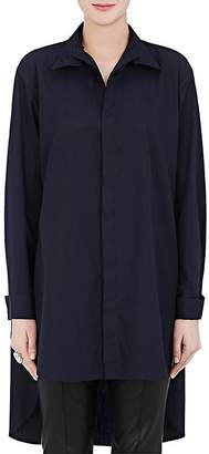 Yohji Yamamoto Regulation Women's Cotton Poplin Elongated Shirt