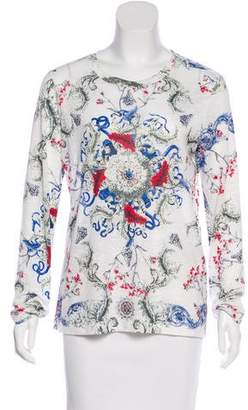 Prabal Gurung Abstract Print Long Sleeve Top