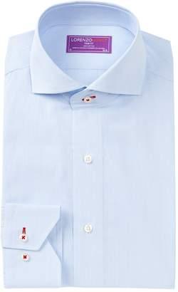 Lorenzo Uomo Micro Grid Trim Fit Dress Shirt