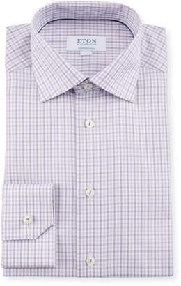 Eton Men's Plaid Contemporary-Fit Dress Shirt