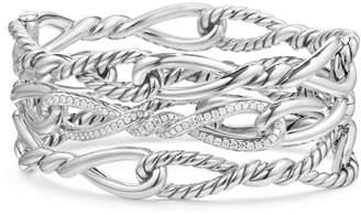 David Yurman Continuance Multi Row Cuff Bracelet with Diamonds