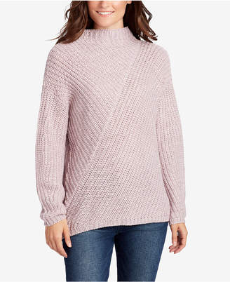 William Rast Robbin Ribbed Mock-Neck Sweater