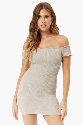 Forever 21 Off-The-Shoulder Mini Dress