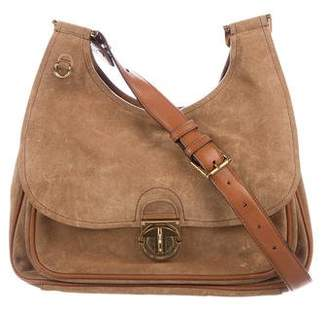 Tory Burch Suede Leather-Trimmed Crossbody Bag