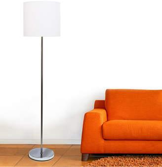 Simple Designs Arched Brushed Nickel Floor Lamp