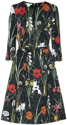 Oscar de la Renta Floral jacquard cotton-blend dress