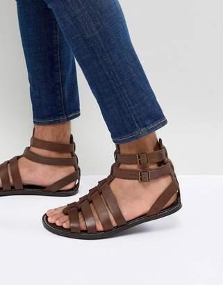 Asos DESIGN Gladiator Sandals In Leather