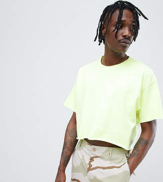 Reclaimed Vintage fluro cropped oversized tee