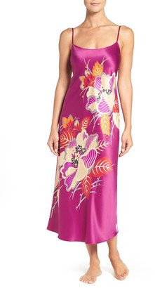 Natori Imperial Floral Print Long Nightgown $130 thestylecure.com