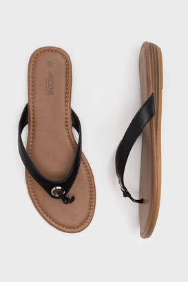 Ardene Faux Leather Flip-Flops