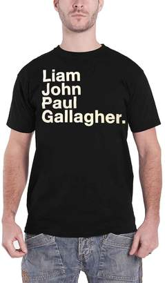 Oasis Liam Gallagher T Shirt LG Full Name as you were new Official Mens