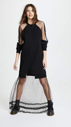 McQ Alexander McQueen Hybrid Long Dress