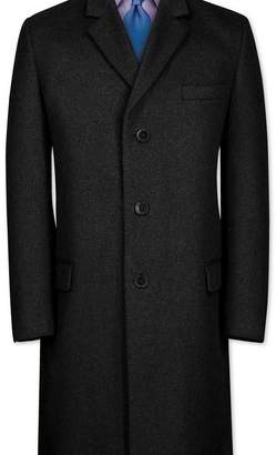 Charles Tyrwhitt Slim fit charcoal wool and cashmere overcoat