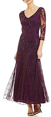 Pisarro Nights Beaded Drop-Waist Gown $198 thestylecure.com