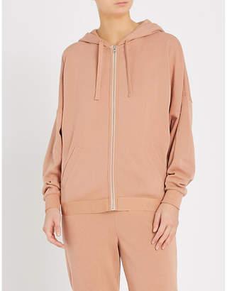 Calvin Klein Tonal Logo stretch-knit hoody