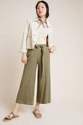Anthropologie Overdyed Cropped Wide-Leg Pants