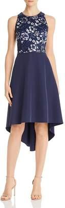 Aidan Mattox Embellished Crepe Dress