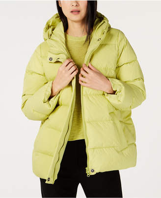 Eileen Fisher Recycled Nylon Hooded Puffer Coat