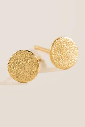 francesca's Mirabelle Gold Disc Stud Earrings - Gold