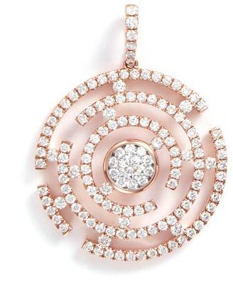 LC Collection Jewellery 'Art Deco' diamond 18k rose gold maze pendant