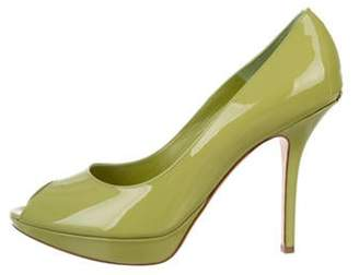 Christian Dior Miss Peep-Toe Pumps gold Miss Peep-Toe Pumps