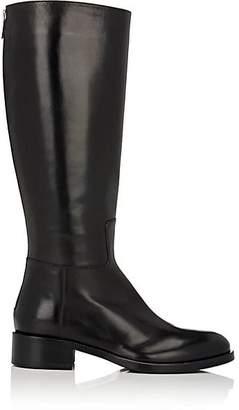 Barneys New York WOMEN'S BACK-ZIP RIDING BOOTS - BLACK SIZE 7.5