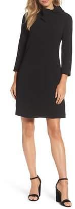 Eliza J Bow Crepe A-Line Dress