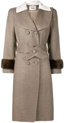 Fendi butterfly lapels overcoat