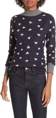 Rebecca Taylor Heart Jacquard Sweater