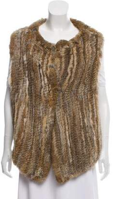 Joie Knitted Fur Vest