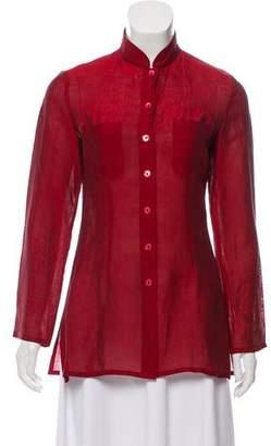 Kenzo Linen Button-Up Top
