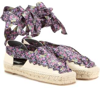 Balenciaga Lace-up canvas espadrilles