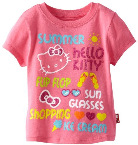Hello Kitty Girl's Glitter Screen Tee