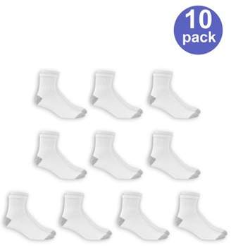 Athletic Works Men's Big and Tall Ankle Socks 10 Pack