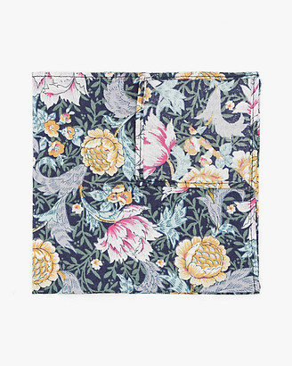Le Château Floral Print Cotton Pocket Square