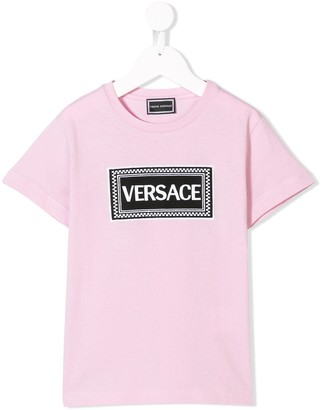 Versace embroidered logo T-shirt