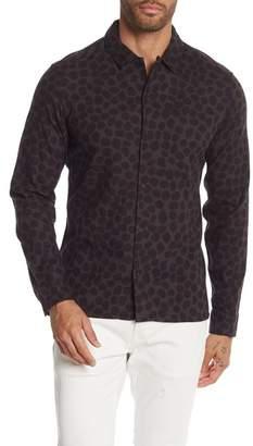 AllSaints Waka Spot Print Regular Fit Shirt