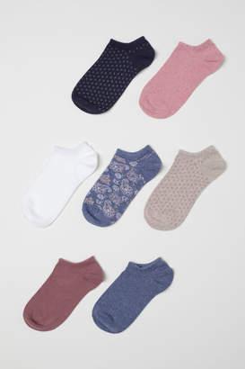 H&M 7-pack Ankle Socks - Pink