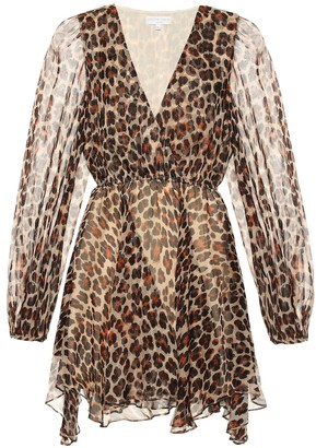 Caroline Constas Olena leopard-print silk minidress