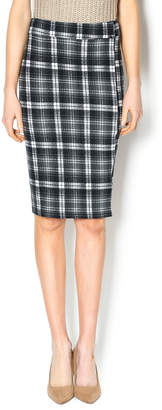 Bishop + Young Plaid Pencil Skirt