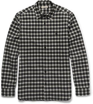 Burberry Brit Slim-Fit Checked Cotton-Flannel Shirt $295 thestylecure.com