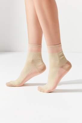 Urban Outfitters Colorblock Metallic Sock