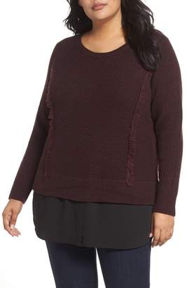 Foxcroft Sophia Layered Look Sweater