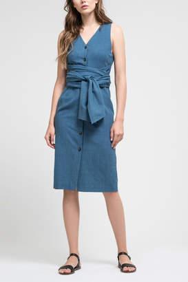J.o.a. Denim Cotton Dress