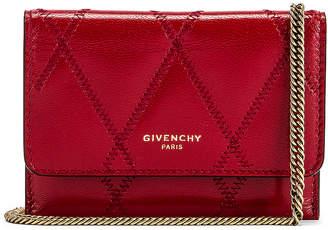 Givenchy Chain GV3 Card Case in Vermillion | FWRD