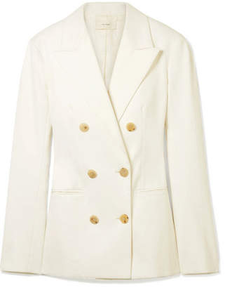 The Row Rupsen Double-breasted Cotton-twill Blazer - Ivory