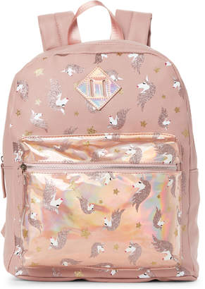 Omg! Accessories Mauve Holographic Unicorn Backpack